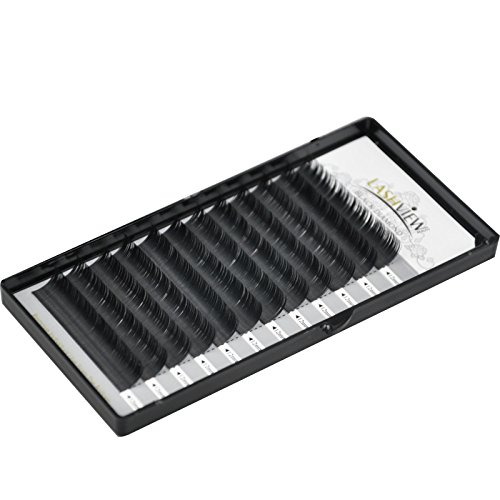 LASHVIEW Ellipse Eyelash Extensions 0.15mm D Curl 8-15mm Mix Flat Eyelash Extension Light Lashes Individual Eyelashes Black Mink False Lashes Mink Lashes Extensions Salon Use