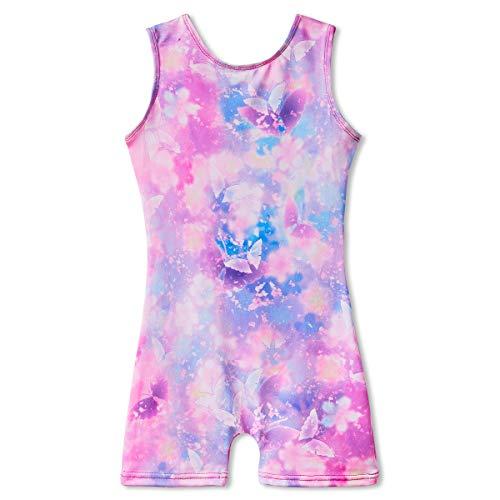 Gymnastics Leotards for Toddler Girls Kids 3t 4t 3-4 Years Old Biketards Dance Clothes Unitards Bodysuits Floral Butterfly (Girls Leotards Gymnastics 4t)