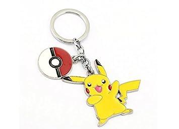 Anime dibujos animados Pokemon Pikachu cadenas de llavero de ...