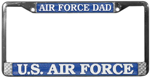 Honor Country Air Force DAD License Plate Frame