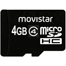 Transcend Movistar 4GB microSDHC, Class 4 Memory Card, Retail Packing