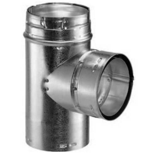 Metal-Fab Gas Vent Swivel Head Tee - 4 x 4 x 4 Inches