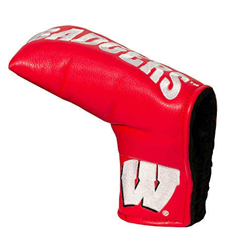 Team Golf NCAA Wisconsin Badgers Golf Club Vintage Blade Putter Headcover, Form Fitting Design, Fits Scotty Cameron, Taylormade, Odyssey, Titleist, Ping, Callaway