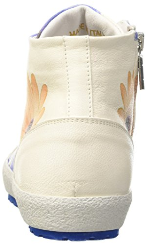 Avorio Of Collo Alto flower D'acquasparta Sneaker A White Donna Tessa aqqfYR