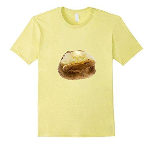 Mens Baked Potato Graphic t-shirt Favorite Carb Side Dish Large Lemon