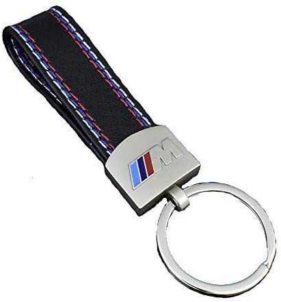 AJade M Series Leather Keychain Key Ring for BMW