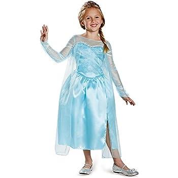 Disneyu0027s Frozen Elsa Snow Queen Gown Classic Girls Costume Medium/7-8  sc 1 st  Amazon.com & Amazon.com: Disneyu0027s Frozen Elsa Snow Queen Gown Classic Girls ...