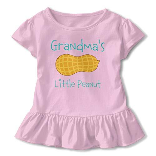 Grandma's Little Peanut Baby Flounces Skirts Toddler Cute T Shirt Dress Cozy Outfits Pink