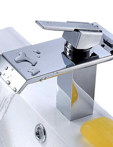 XYu0026XH Bathroom Sink Faucet , Brass Waterfall Bathroom Sink Faucet With Stainless  Steel Spout By XYu0026XH Home Design Ideas