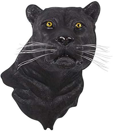 Design Toscano Shadow Predator Black Panther Wall Sculpture, Multicolor