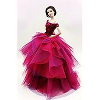 [Fit Barbie Doll] Cora Gu Classic Off Shoulder Fuchsia...