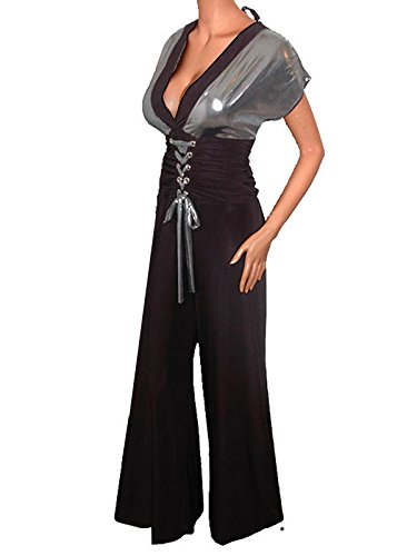 Funfash Plus Size Women Pants Corset Black Gray Jumpers Jumpsuit Top Made in USA by Funfash