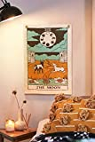 Tarot Flag Tapestry - The Sun, The Moon and The