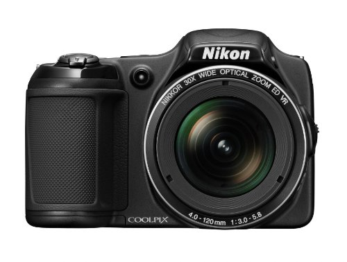 Nikon COOLPIX L820 16 MP CMOS Digital Camera with 30x Zoom Lens and Full HD 1080p Video (Black) (OLD MODEL) - Chinese Export Old