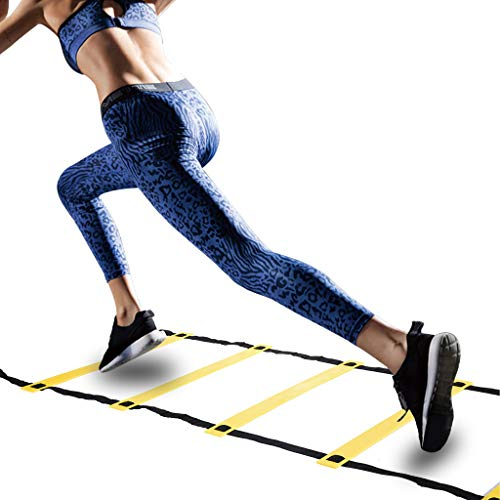 Professional Agility Ladder Agility Training Ladder Speed Flat Rung with Carrying Bag - Multi Choice:8,12 Rung [USA in Stock] -