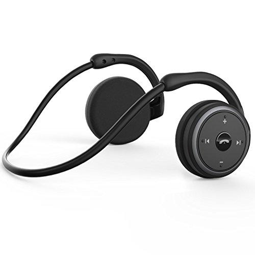 LEVIN Bluetooth 이어폰 4.2 압박감없이 스포츠 발한 귀에 걸고있는 12 시간 재생 통화 가능 Marathon