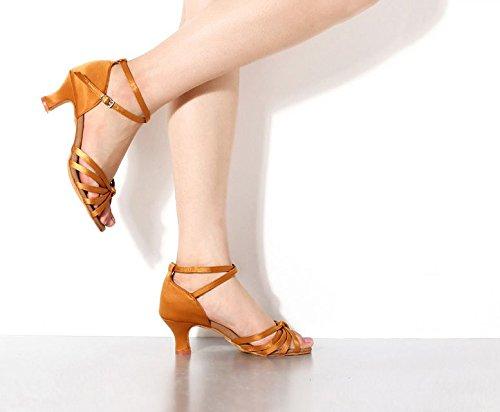 for Yellow Shoes Black Yao Salsa Dance Latin Yellow Tango Shoes Professional Women Dancing Ballroom UWzqA6Ppv