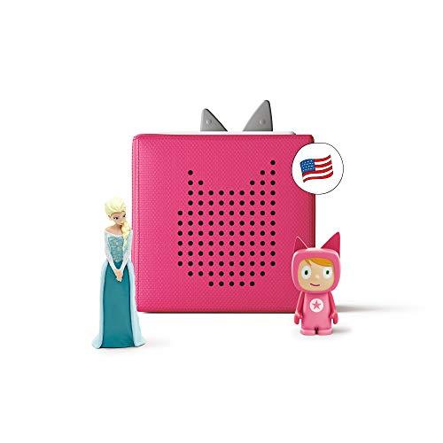 tonies Toniebox Pink Starter Set with Elsa from Disney's Frozen – Imagination-Building, Screen-Free Digital Listening…