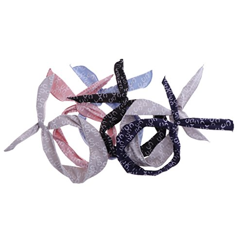 - D DOLITY 6pcs Cotton Headbands Twist Bow Wired Hair Band Piece Adjustable Headwraps - Circle