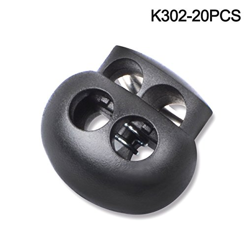 Cord Closure (Multi-size Cord Lock End Toggle Spring Stopper Fastener Slider Toggles End (K302 20PCS))