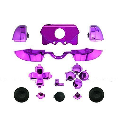 Bumpers Triggers Buttons DPad LB RB LT RT For Xbox One Elite Controller Chrome Purple