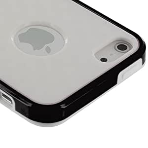 Accessory Planet(TM) White / Black Cube TPU Rubber Skin Case Cover Accessory for Apple iPhone 5 / 5S