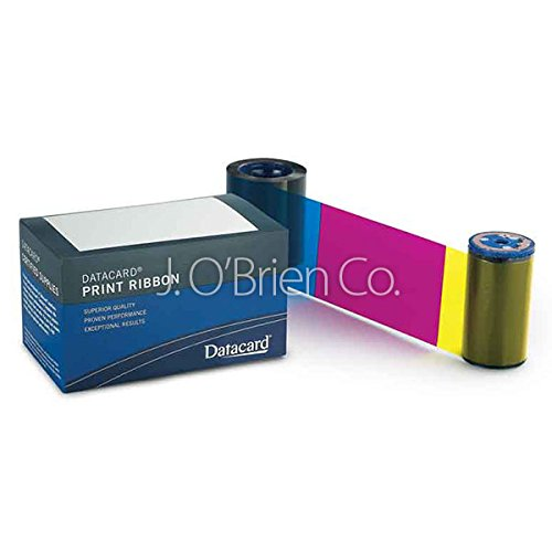 Datacard YMCKT full-color ribbon kit with inline topcoat,, 535000-003 (kit with inline topcoat, 500 images)