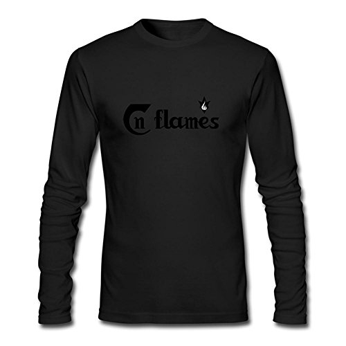 XIULUAN Men's In Flames Band Melodic Death Metal Logo Long Sleeve T-shirt XL (Jester Long Sleeve)