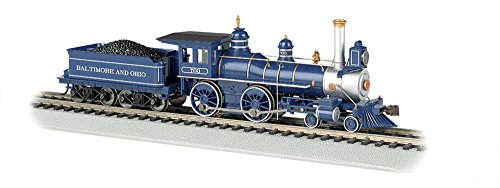 4-4-0 American Steam DCC Sound Value Baltimore & Ohio with Coal Load Locomotive (HO Scale) ()