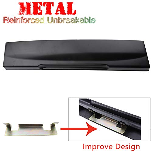 Rear Tailgate License Plate Shield Handle wit Metal Bracket For 02-05 Ford Explorer Black 2002 2003 2004 2005