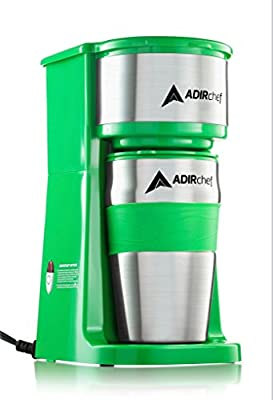 AdirChef Grab N' Go Personal Coffee Maker with 15 oz. Travel Mug