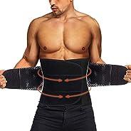 Gotoly Men Sweat Waist Trainer Belt Sauna Belly Workout Cincher Fitness Body Shaper Back Supporter