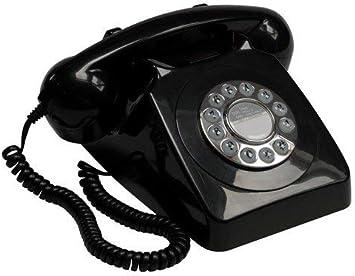 GPO 746 Teléfono Fijo de Botones con Estilo Retro de los años 70: Amazon.es: Electrónica