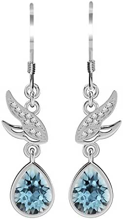 Glimmering Genuine Swarovski Elements Crystals Designer Dangle Earrings for Women and Girls