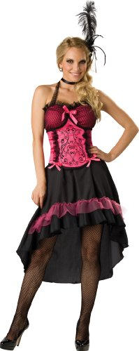 [InCharacter Costumes Women's Saloon Gal 2B Adult Costume, Black/Pink, Small] (Womens Western Costumes)