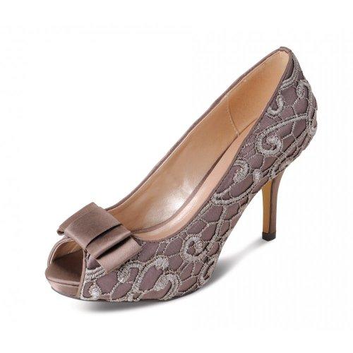 Lunar - Zapatos de vestir para mujer Beige gris