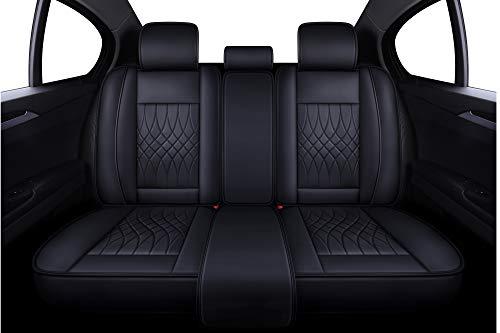 (LUCKYMAN CLUB Rear Seat Covers Fit Most Sedan SUV Truck - Fit for Chevy Hyundai Mazda Toyota Corolla Kia Honda Nissan (Rear Seat of Black))