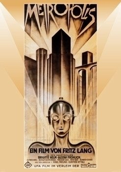 Metropolis Fritz Lang Cult Classic Silent Film PAPER POSTER measures 34 x 24 inches (86.5 x 61cm) (Cult Classic Icon)