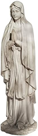 Design Toscano KY1314 Life Size Blessed Virgin Mary Statue,antique stone