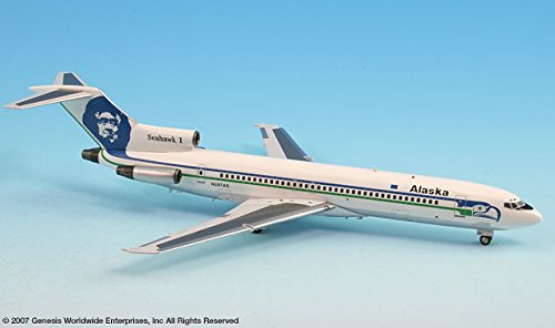 InFlight200 Alaska Airlines Boeing 727-200 REG#N297AS 1:200 Scale Diecast Display Model