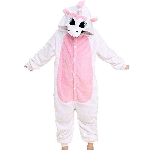 Tricandide Children Unisex Halloween Pajamas Animal Costume Cosplay Onesie Pink Unicorn XXL (Onesie Halloween Costume)