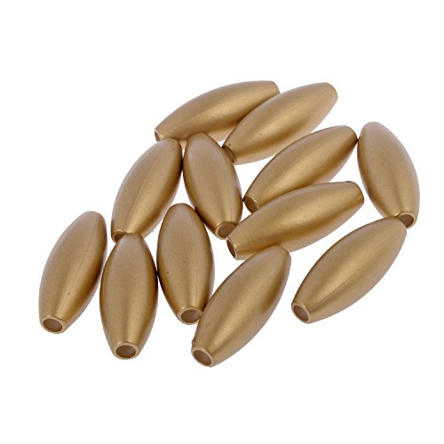 Oval Barrel Shape Crafting Bead - 30mm x 12mm - Nylon Material - Metallic Colour - Matt Gold