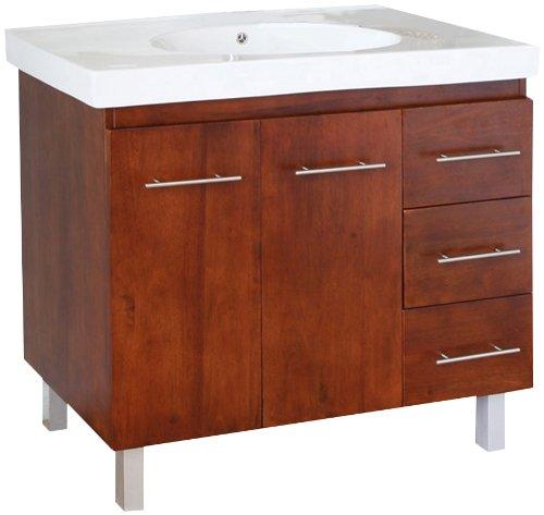 Bellaterra Home 203129-W-R 39-Inch Single Sink Vanity, Wood, Walnut