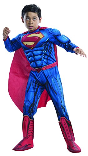 superman+costumes Products : Superman Deluxe Boys Child Kids Youth Muscle Chest Costume
