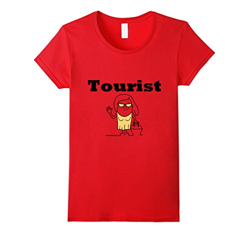 Womens Funny Tourist Shirt For Men, Women, Teens, Kids, Boys, Girls Large Red