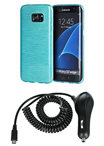 Shockproof Armor Case for Samsung Galaxy S7 Edge (Crystal/Aqua) - 5