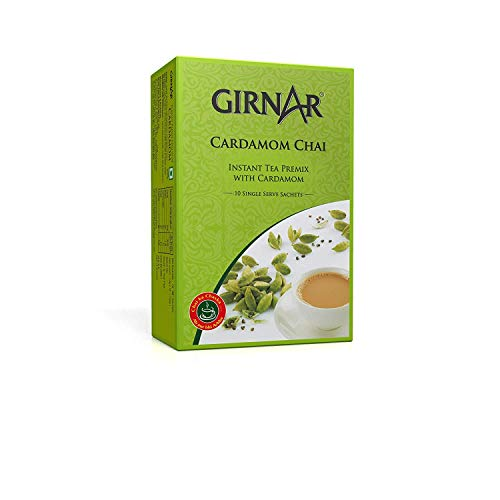 Girnar Instant Chai/Tea Premix With Cardamom Unsweetened, 10 Sachet Pack