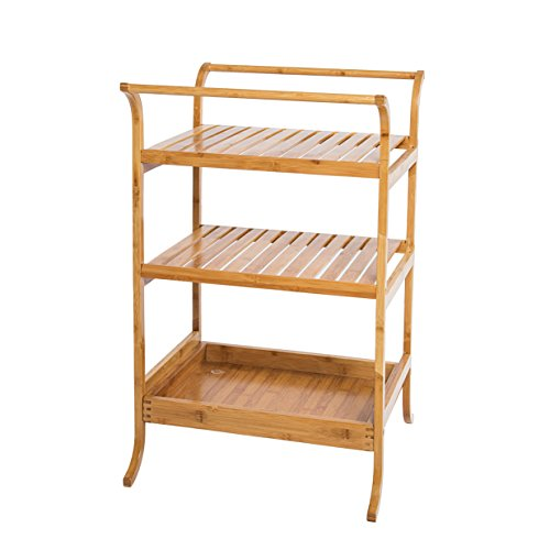 Dline 3-Tires Bamboo Bathroom Organizing Storage Shelf (Stand Mixer Towel compare prices)