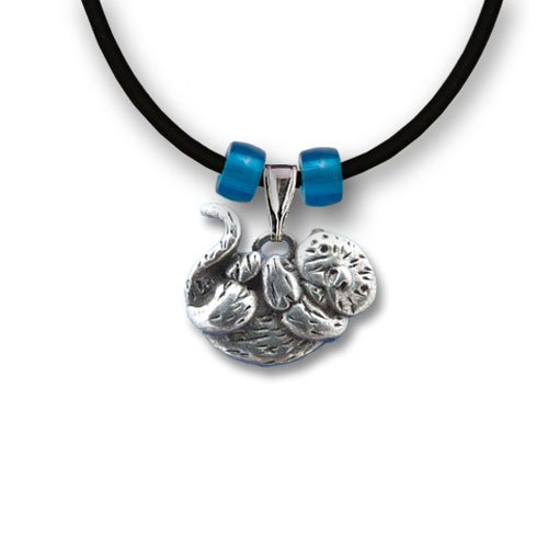 Pewter Sea Otter Necklace by The Magic Zoo (Otter Costume)