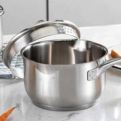 Melk pannen, melk Pot van de Soep, steelpan met deksel, roestvrijstalen pan, saus Pan met glazen afdekplaat HAOSHUAI